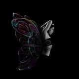 γυναίκα πεταλούδων Στοκ φωτογραφία με δικαίωμα ελεύθερης χρήσης