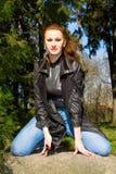 γυναίκα πετρών Στοκ φωτογραφίες με δικαίωμα ελεύθερης χρήσης