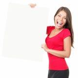 Γυναίκα πινάκων διαφημίσεων στοκ φωτογραφίες με δικαίωμα ελεύθερης χρήσης