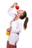γυναίκα πιπεριών στοκ φωτογραφίες με δικαίωμα ελεύθερης χρήσης