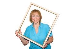γυναίκα πλαισίων Στοκ φωτογραφίες με δικαίωμα ελεύθερης χρήσης
