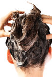γυναίκα πλύσης τριχώματο&sigm Στοκ Εικόνες