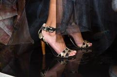 γυναίκα ποδιών μόδας Στοκ Φωτογραφίες