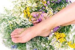 γυναίκα ποδιών στοκ φωτογραφίες