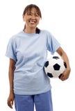 γυναίκα ποδοσφαίρου σφ&a Στοκ Εικόνες