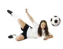 γυναίκα ποδοσφαίρου Στοκ φωτογραφία με δικαίωμα ελεύθερης χρήσης