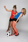 γυναίκα ποδοσφαίρου Στοκ εικόνες με δικαίωμα ελεύθερης χρήσης