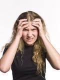 γυναίκα πονοκέφαλου Στοκ Φωτογραφία