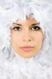γυναίκα πορτρέτου αγγέλ&omi στοκ εικόνες