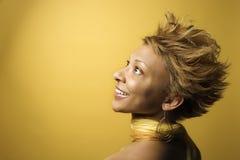 γυναίκα πορτρέτου αφροα Στοκ φωτογραφία με δικαίωμα ελεύθερης χρήσης