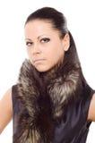 γυναίκα πορτρέτου γουνών Στοκ Φωτογραφία