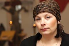 γυναίκα πορτρέτου εκκλ&et στοκ εικόνα