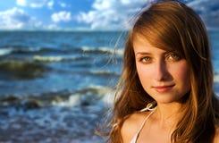 γυναίκα πορτρέτου ομορφ&i Στοκ Φωτογραφία