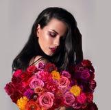 γυναίκα πορτρέτου λουλ στοκ εικόνες με δικαίωμα ελεύθερης χρήσης