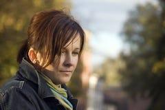 γυναίκα πορτρέτου brunette Στοκ εικόνες με δικαίωμα ελεύθερης χρήσης
