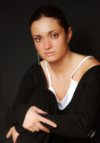 γυναίκα πορτρέτου brunette Στοκ Εικόνες