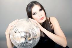 γυναίκα πορτρέτου disco σφαι&rh Στοκ Εικόνες