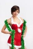 γυναίκα πουλιών santa φορεμάτ& στοκ φωτογραφίες με δικαίωμα ελεύθερης χρήσης