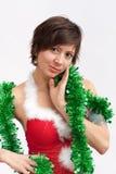 γυναίκα πουλιών santa φορεμάτ& στοκ εικόνες