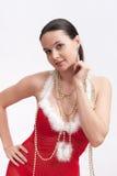 γυναίκα πουλιών santa φορεμάτ& στοκ εικόνα με δικαίωμα ελεύθερης χρήσης