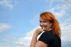Γυναίκα που απολαμβάνει τη ζωή Στοκ εικόνα με δικαίωμα ελεύθερης χρήσης