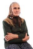 Γυναίκα που απομονώνεται ανώτερη στο λευκό στοκ φωτογραφίες με δικαίωμα ελεύθερης χρήσης