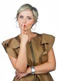 Γυναίκα που κάνει την έκφραση Στοκ Εικόνες
