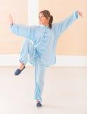Γυναίκα που κάνει qi gong tai chi την άσκηση Στοκ εικόνες με δικαίωμα ελεύθερης χρήσης