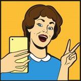 Γυναίκα που κάνει selfie Στοκ εικόνα με δικαίωμα ελεύθερης χρήσης