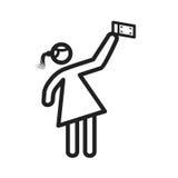 Γυναίκα που μιλά selfie Στοκ Εικόνες