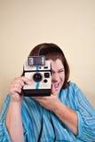Γυναίκα που παίρνει τη φωτογραφία σας στοκ φωτογραφία