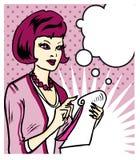 Γυναίκα που παίρνει τις σημειώσεις απεικόνιση αποθεμάτων