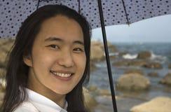 Γυναίκα που προστατεύεται από τον ήλιο Στοκ φωτογραφίες με δικαίωμα ελεύθερης χρήσης