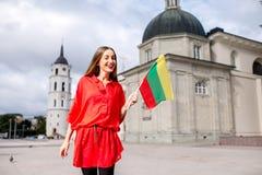 Γυναίκα που ταξιδεύει σε Vilnius Στοκ εικόνες με δικαίωμα ελεύθερης χρήσης