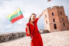 Γυναίκα που ταξιδεύει σε Vilnius Στοκ φωτογραφίες με δικαίωμα ελεύθερης χρήσης