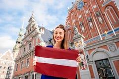 Γυναίκα που ταξιδεύει στη Λετονία Στοκ Εικόνες