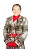 Γυναίκα που φορά ένα χειμερινό παλτό Στοκ Εικόνα