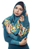 Γυναίκα που φορά πράσινο Hijab Στοκ εικόνες με δικαίωμα ελεύθερης χρήσης