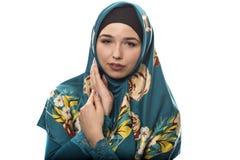 Γυναίκα που φορά πράσινο Hijab Στοκ φωτογραφία με δικαίωμα ελεύθερης χρήσης