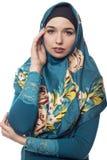 Γυναίκα που φορά πράσινο Hijab Στοκ Εικόνες