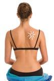 Γυναίκα που φορά bikini Στοκ Φωτογραφίες