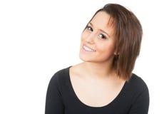 Γυναίκα που χαμογελά με τα λαμπρά δόντια Στοκ Εικόνες