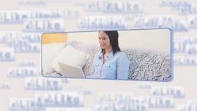 Γυναίκα που χρησιμοποιεί τα κοινωνικά μέσα φιλμ μικρού μήκους