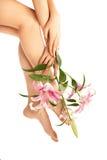 γυναίκα ποδιών ομορφιάς Στοκ Εικόνες