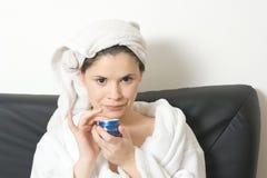 γυναίκα προσώπου κρέμας Στοκ Εικόνα