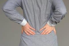 Γυναίκα, πόνος στη χαμηλότερη πλάτη στοκ φωτογραφίες με δικαίωμα ελεύθερης χρήσης