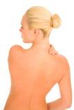 γυναίκα πόνου λαιμών Στοκ εικόνα με δικαίωμα ελεύθερης χρήσης
