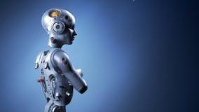 Γυναίκα ρομπότ, τεχνητή νοημοσύνη γυναικών sci-Fi ελεύθερη απεικόνιση δικαιώματος