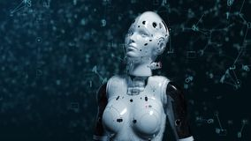 Γυναίκα ρομπότ, γυναίκα sci-Fi απόθεμα βίντεο
