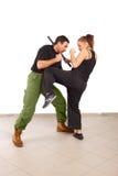γυναίκα ροπάλων ανδρών πάλη& στοκ φωτογραφίες με δικαίωμα ελεύθερης χρήσης